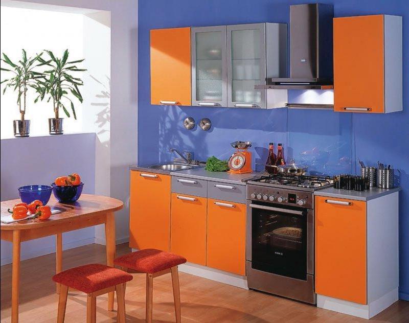 Сочетание цветов интерьер кухни триада один доминирующий