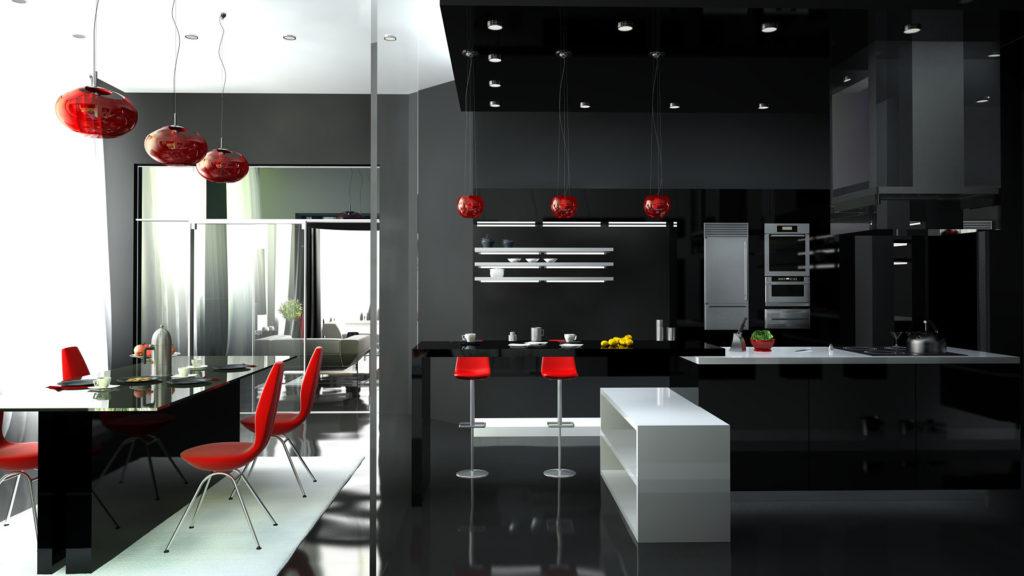 Современная кухня стиль хай-тек
