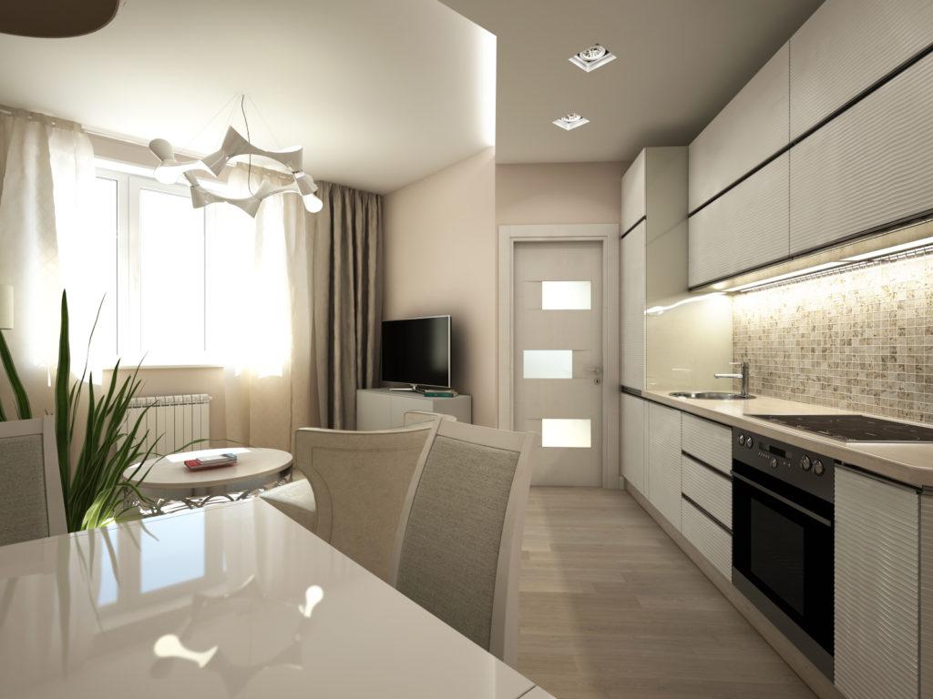 Современная кухня светлые тона