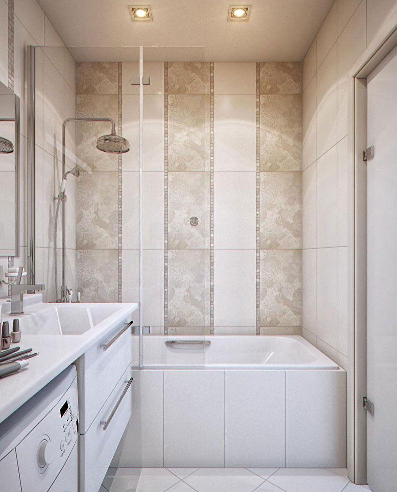 дизайн стен в ванной 3 м2