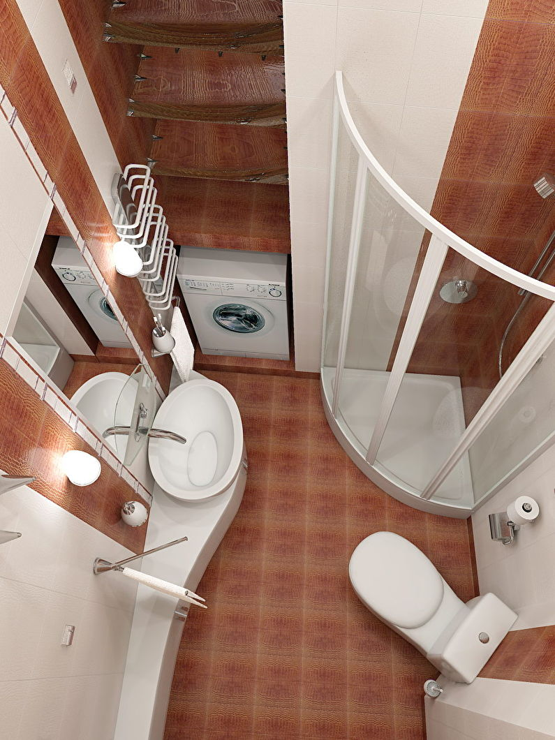 душевой угол в ванной 3 кв м