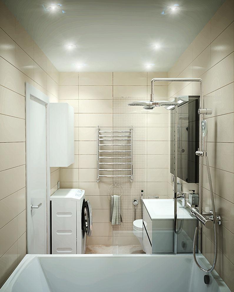 натяжной потолок в ванной 3 м2