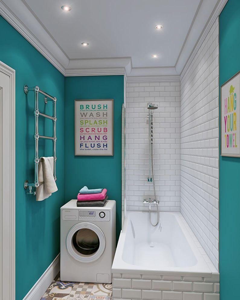 ванная 3 кв м со стиральной машинкой