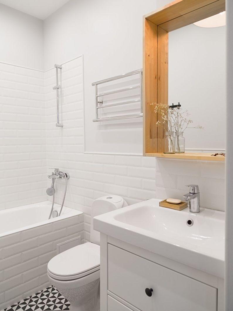 светлый дизайн ванной 3 кв м