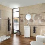ванная комната с окном стильный дизайн