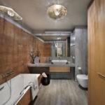 дизайн ванной совмещенной с туалетом идеи