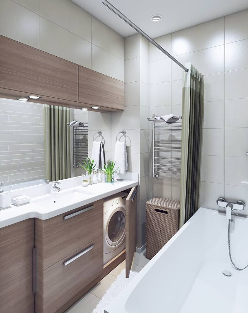 уютный дизайн ванной 3 м2