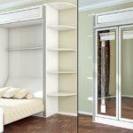 белый шкаф кровать