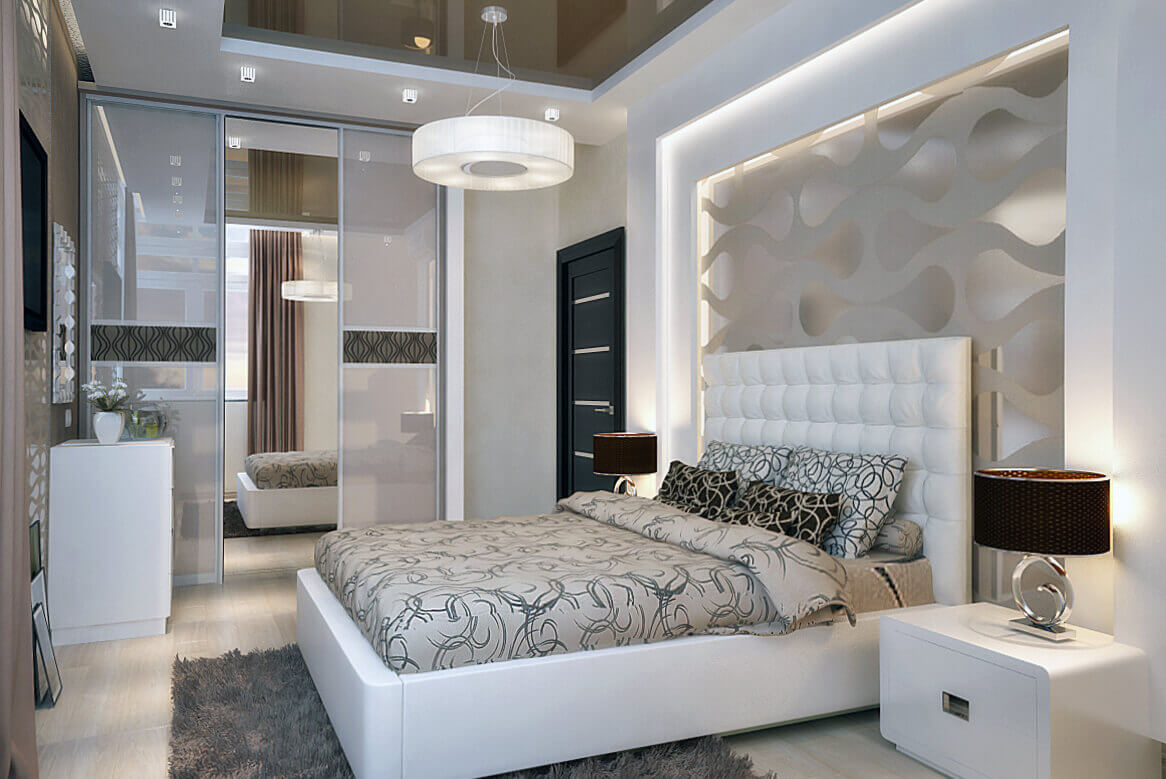 дизайн спальни гостиной модерн