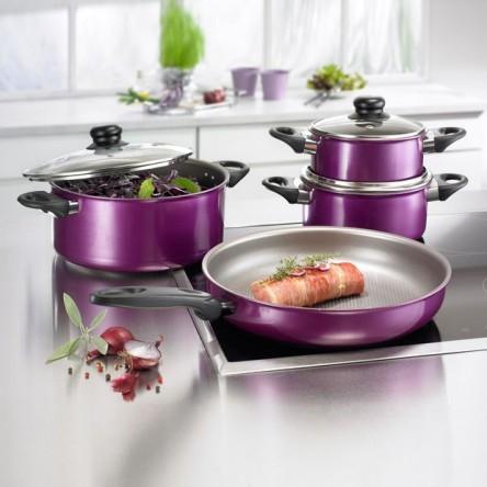 Фиолетовая посуда для кухни