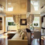 дизайн гостиной кухни 18 м2