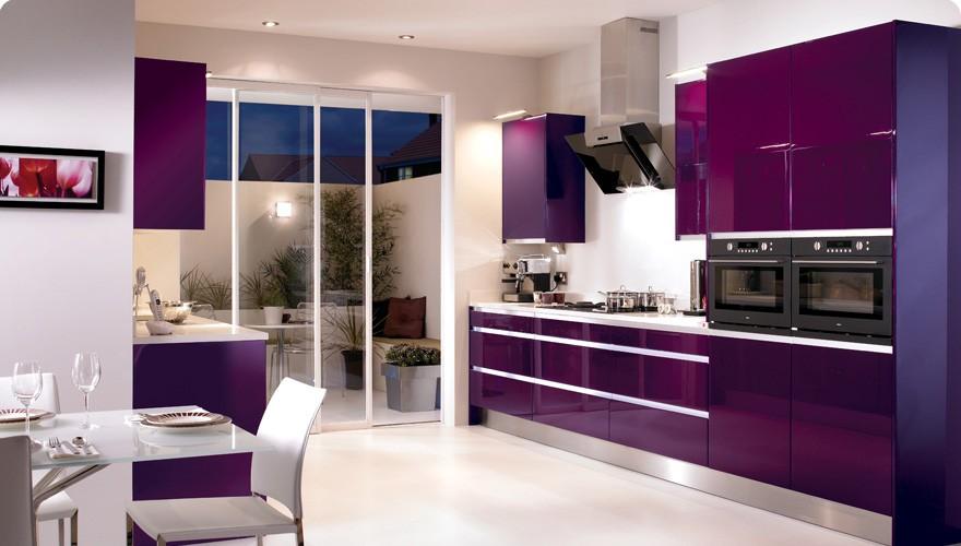 Кухня фиолетовых цветов