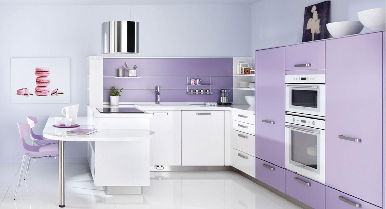 Нежно-фиолетовая кухня