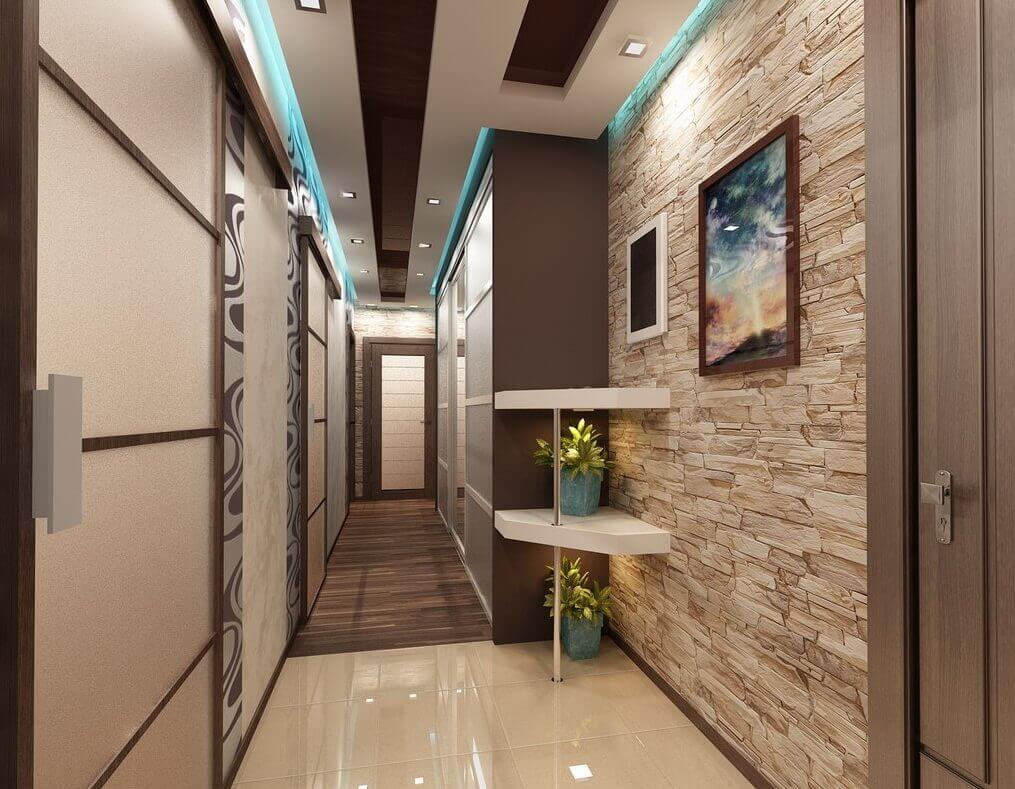 узкий длинный коридор