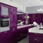 Огромная фиолетовая кухня