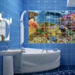 Декор ванной комнаты декупаж на кафеле