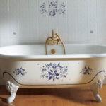 Декор ванной комнаты декупаж на ванной