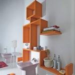 Декор ванной комнаты модульная полка вместо туалетного столика
