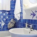 Декор ванной комнаты морские мотивы