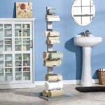 Декор ванной комнаты напольная этажерка для полотенец