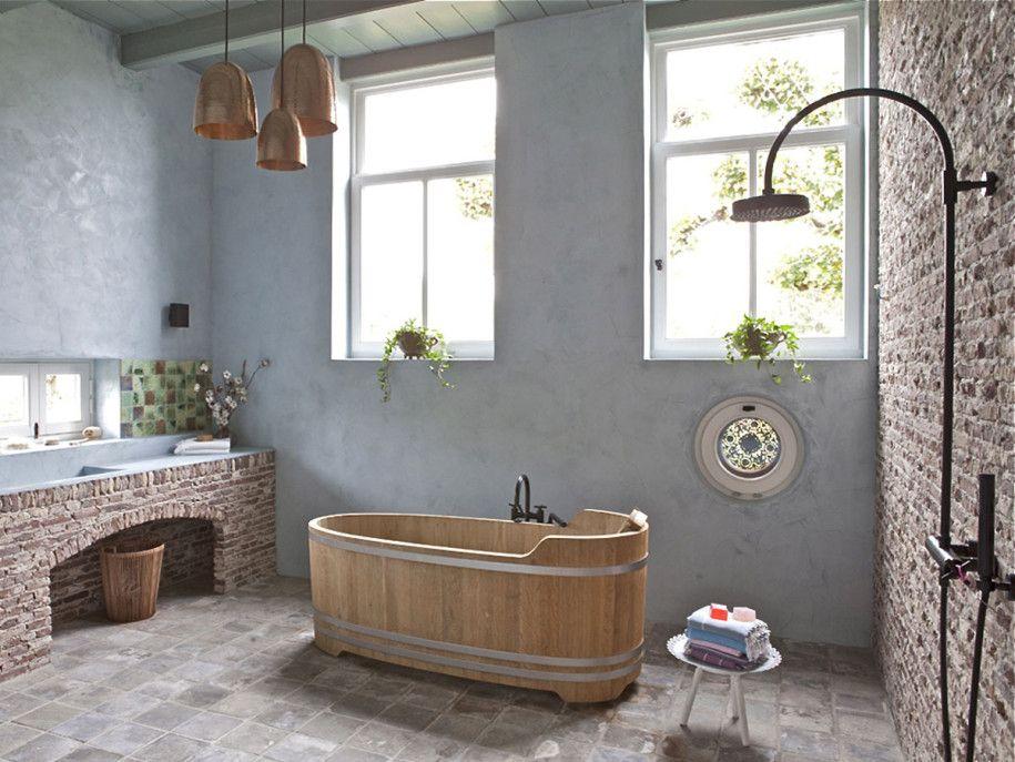 Декор ванной комнаты в стиле кантри