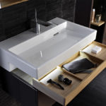 Декор ванной комнаты выдвижной ящик под раковиной