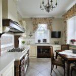 Дизайн кухни в частном доме классический стиль угловая планировка