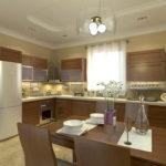 Дизайн кухни в частном доме с угловой планировкой