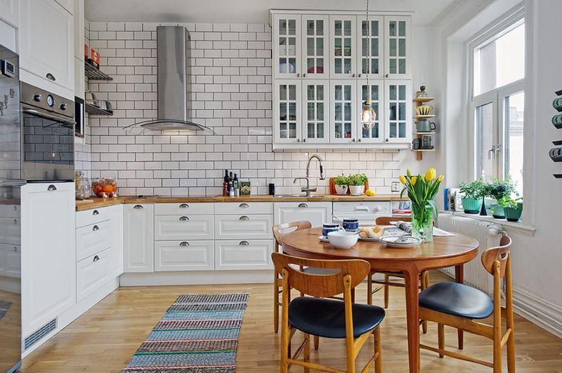 Дизайн кухни в частном доме скандинавский стиль кафель