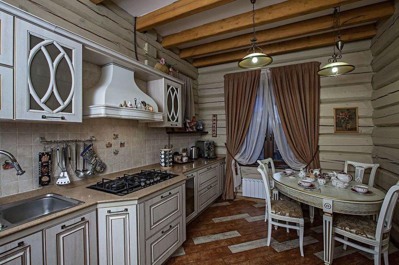 Дизайн кухни в частном доме стиль кантри и винтаж