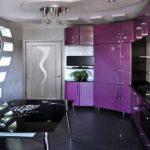 Дизайн кухни в частном доме стиль техно