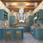 Дизайн кухни в частном доме в стиле русской избы