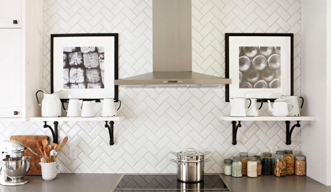 дизайн плитки на кухне идеи