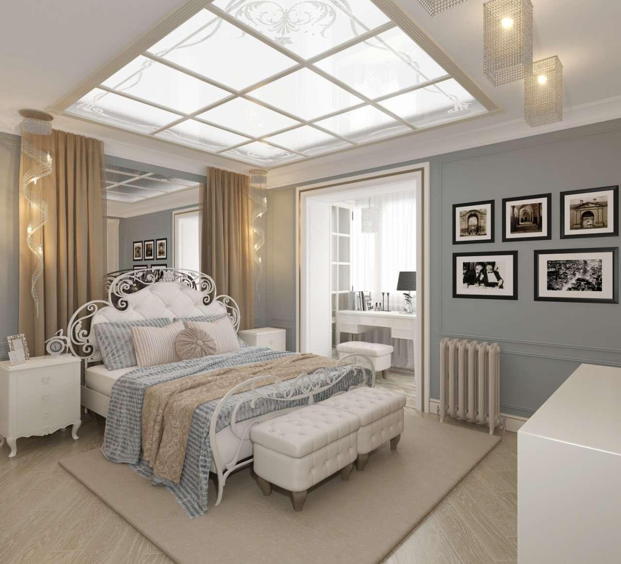 спальня с балконом арт деко