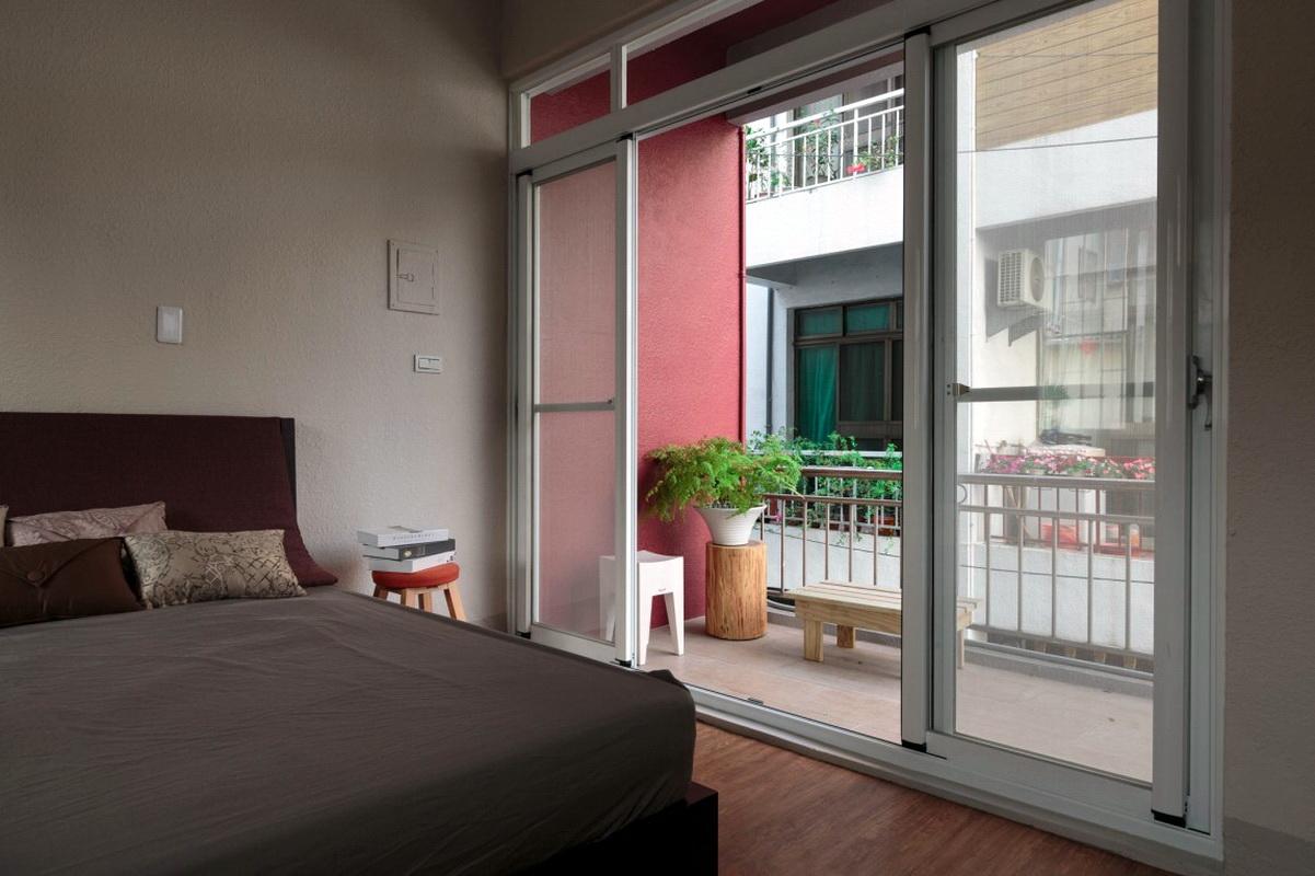 спальня совмещенная с открытым балконом