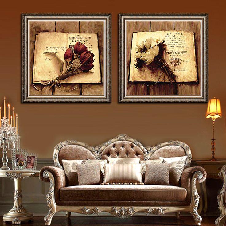 Картины в интерьере гостиной ампир