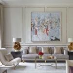 Картины в интерьере гостиной минималистского стиля