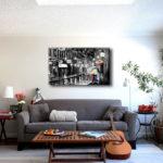 Картины в интерьере гостиной постер в минималистком стиле
