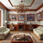 Картины в интерьере гостиной викторианский стиль