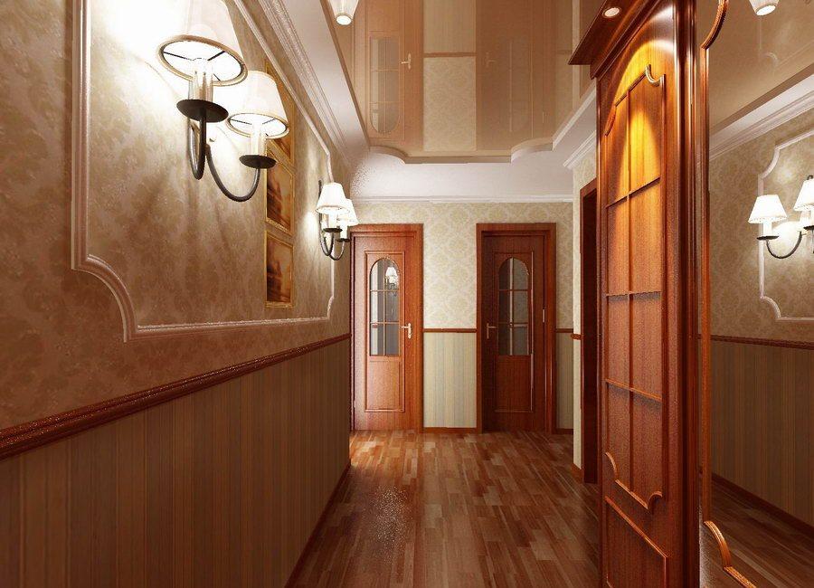красивый дизайн узкого коридора