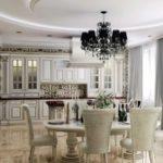 элитный дизайн кухни в стиле классика