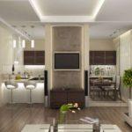 кухня гостиная 18 м2 дизайн фото