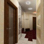узкий коридор дизайн фото