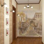 узкий коридор стильный дизайн