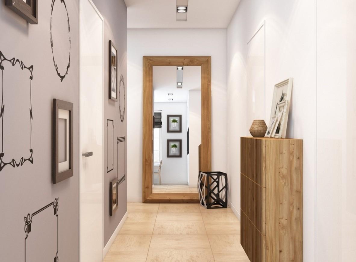оформление узкого коридора