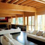 Оформление большой гостиной комнаты в частном доме