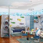Оформление детской комнаты для мальчика-школьника хай-тек