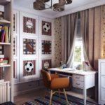 Оформление детской комнаты для мальчика-школьника в американском стиле