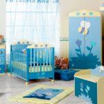 Оформление детской комнаты для новорожденного два акцентных цвета