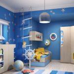 Оформление детской комнаты мебель и оформление в морском стиле